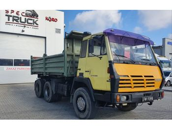 STEYR 1491, Tipper 6x4, Full Steel, big axles ,6 CYLINDERS - billenőplatós teherautó