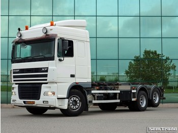 DAF FAS XF95.430 EURO 3 TIPPPER CHAIN SYSTEM 20 TONS TOP CONDITION HOLLA... - cserefelépítményes teherautó