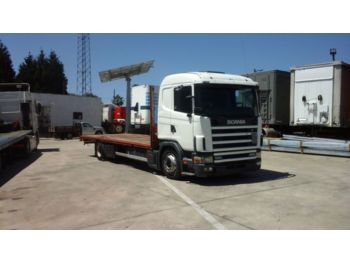 SCANIA 124L 400 left hand drive 18 ton manual fuel pump - síkplatós teherautó